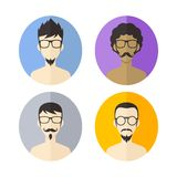 Man hipster avatar user picture cartoon character Stock Photos