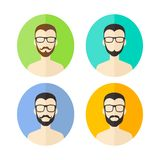 Man hipster avatar user picture cartoon character Stock Images