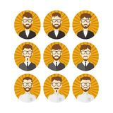 Man hipster avatar user picture cartoon character Royalty Free Stock Photos