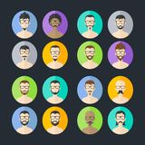 Man hipster avatar user picture cartoon character Stock Photography