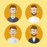 Man hipster avatar user picture cartoon character Royalty Free Stock Images