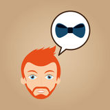 Man hipster bearded wearing bow tie Royalty Free Stock Photography
