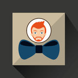 Man hipster bearded wearing bow tie Stock Photo