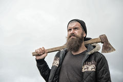 Man hipster or guy with beard and moustache Stock Photos