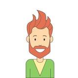 Man Hipster Hand Beard Isolated Avatar Royalty Free Stock Photos