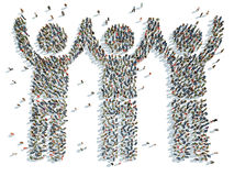 Man with his arms raised. Illustration of a man with his arms raised Royalty Free Stock Photo