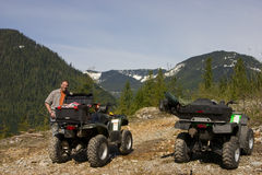 Man and his ATV Royalty Free Stock Photography