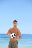 Man with his ball Royalty Free Stock Image