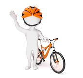 Man with his bike Royalty Free Stock Photo