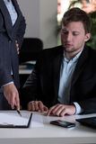 Man and his boss Royalty Free Stock Photography