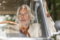 Man in his car Royalty Free Stock Images