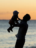 Man with his child Stock Image