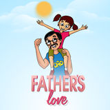Man with his daughter for Happy Fathers Day. Royalty Free Stock Photos