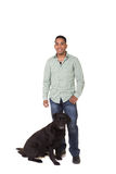 A man and his dog Royalty Free Stock Photos