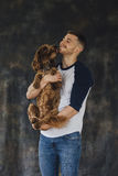 Man and his Dog Royalty Free Stock Image