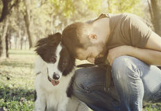 Man with his dog Royalty Free Stock Photography