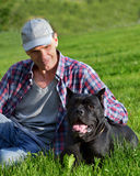 Man with his dog Stock Image