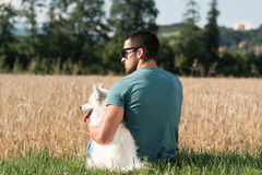 Man And His Dog Stock Image