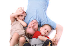 Man and his family Royalty Free Stock Photos