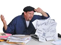 Man and his financial dilemna Stock Photography