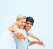 Man and his girlfriend standing together Royalty Free Stock Photo