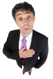 Man with his hand to his heart royalty free stock photography
