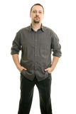 Man with his hands in his pockets. Portrait of a man with his hands in his pockets Stock Images