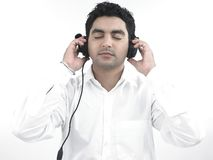 Man with his headphones Royalty Free Stock Photo
