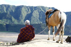 Man and his horse. In Java Indonesia Stock Photo