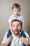 Man with his little son Royalty Free Stock Photo