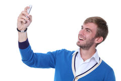 Man on his mobile phone Stock Photos