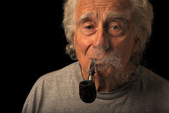 Man and His Pipe Royalty Free Stock Photography