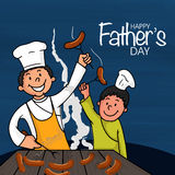 Man with his son for Happy Fathers Day celebration. Stock Photos