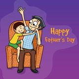 Man with his son for Happy Fathers Day celebration. Royalty Free Stock Image