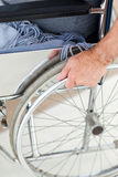 Man in his wheelchair Stock Photo