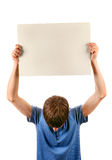 Man hold Blank Board Royalty Free Stock Images