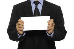 Man Hold Blank Envelope Stock Image