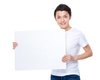 Man hold with blank placard Royalty Free Stock Photos