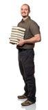 Man hold books Royalty Free Stock Photo