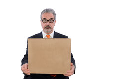 Man hold box Stock Photo