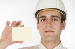 Man hold card Stock Photos