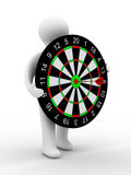 Man hold darts on white background Stock Photos