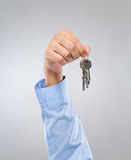 Man hold with key chain Royalty Free Stock Photos