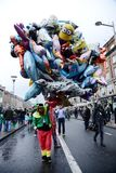 A man hold many balloons on St. Patrick`s Day Parade in Dublin, Ireland, March 18th 2015 Stock Photography