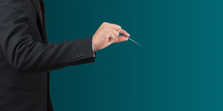 Man hold needle Stock Images