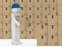 Man hold package Stock Photography