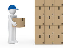 Man hold package Royalty Free Stock Photo