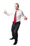 Man hold position Royalty Free Stock Images