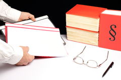 Man hold some files Royalty Free Stock Image
