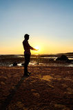 Man hold the sun Royalty Free Stock Images